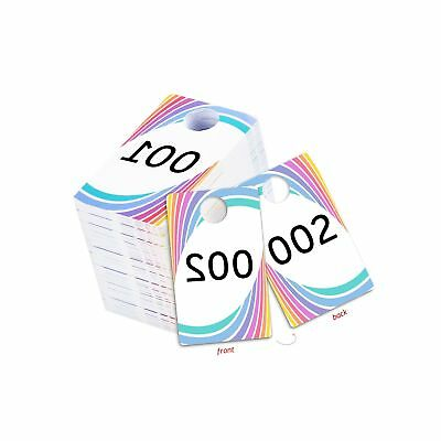 Live Sale Plastic Tags Normal and Reverse Mirror Image Numbers Reusable Hange...
