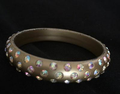 Child's resin bangle with crystals 5 cm in width