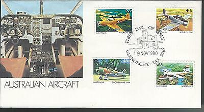 FDC Australia First Day Cover - 1980 Australian Aircraft Glenorchy TAS