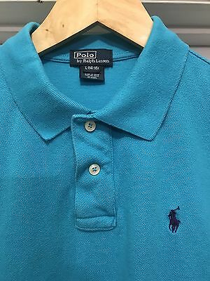 Excellent Boys Size Large 14/16 Ralph Lauren Polo Shirt Short Sleeve 14-16