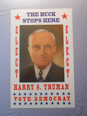 """HARRY S. TRUMAN PRESIDENTIAL ELECTION CAMPAIGN POSTER 14"""" x 22"""""""