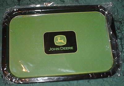 "John Deere Logo Tin Tray-13 1/2 ""-Green With Logo-New"