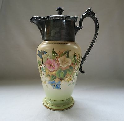 Carlton Ware Stoke on Trent Pitcher with Silver Plate Rams Head Collar c.1906