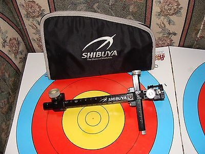 "Shibuya Ultima CP-520 Carbon Target sight,9"" bar/Extreme scope/4 X lens ,Great!"