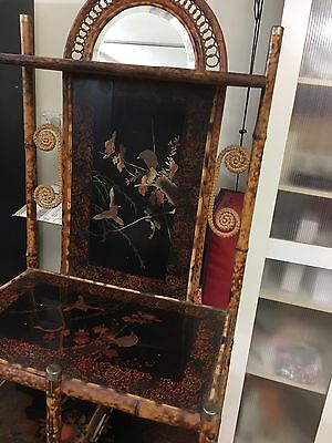 Antique Burnt Bamboo Hall Stand