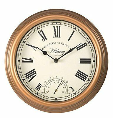 Outside In Astbury Wall Clock & Thermometer 12""