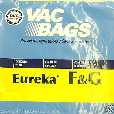 Eureka Sanitaire F&G Upright Vacuum Bags 9 Pack Made by DVC IN USA