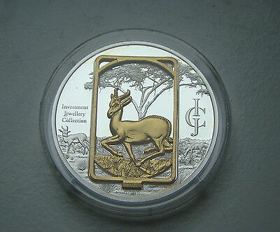Malawi 50 Kwacha 2008 - Springbok, Silver and Gold + Case