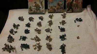 airfix soldiers model kit lot commandos afrikan korps WWII German infantry army