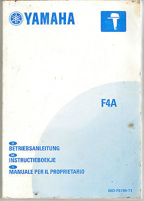 Yamaha F4A Owners Manual (sections in 6 languages-GB,F,ES,D,NL & I)