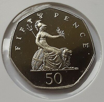 1987 Proof Fifty Pence 50p Coin Rare
