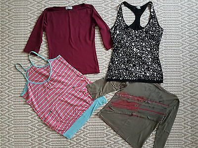 ladies clothes bundle size 10 top sleveless vest 3/4 sleeve sparkly top job lot
