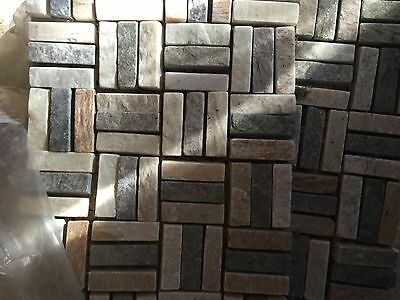 Job Lot of White and Devorative Mosaic Ceramic Wall Tiles