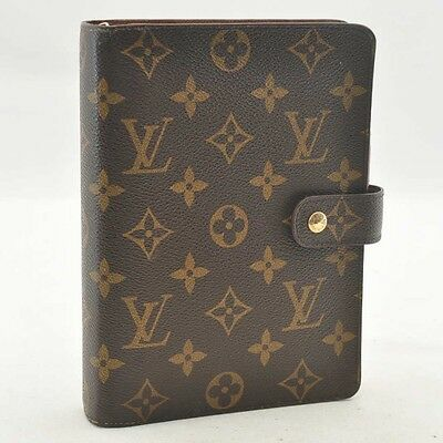 Authentic  Louis Vuitton Monogram Agenda MM Day Planner Cover R20105 #SS453 +