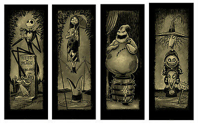Haunted Mansion Nightmare Before Christmas Stretching Portraits GicleeSet Disney