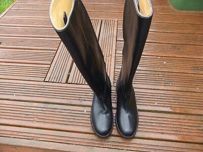 Mountain Horse Long High Rider Horse Riding Boots Real Leather Size 8 Zip Up