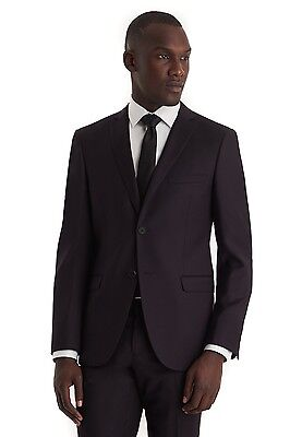 DKNY SLIM FIT MENS SUIT - AUBERGINE -  (40S) W34 Length altered (29.5)
