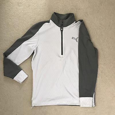 Puma PwrWarm Golf Sweater 1/4 Zip White Small