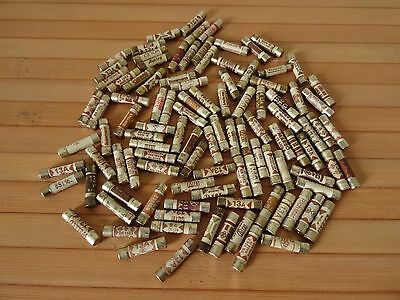 100 x 13A Domestic Household Plug Fuses Cartridge  - Used, Tested, Working