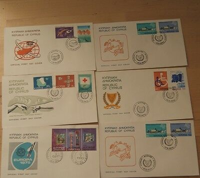 Low Price: Cyprus - Full Collection Of 1975 Fdc Stamps