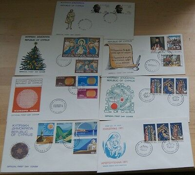 Low Price: Cyprus - Collection Of 1970/1971 Fdc Stamps
