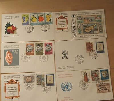 Low Price: Cyprus - Full Collection Of 1974 Fdc Stamps