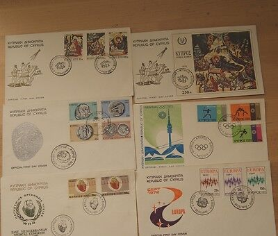Low Price - Cyprus - Full Collection Of 1972 Fdc Stamps