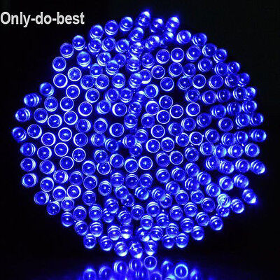 22M 200LED Solar Powered Fairy Lights Xmas Outdoor Party Lights Blue