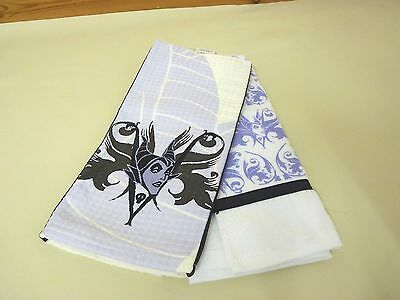 Rare Disney Parks Maleficent / Sleeping Beauty Hand Towel Set Good V Evil BNWT