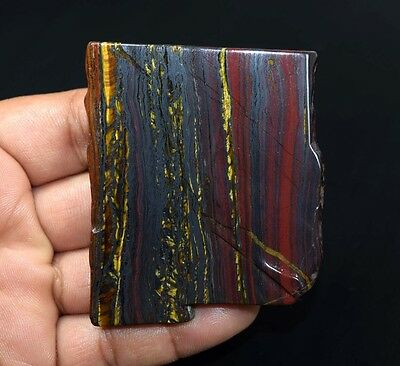 319.50 Cts. 100% Natural Multi Iron Tiger Slice For Making Cabochons