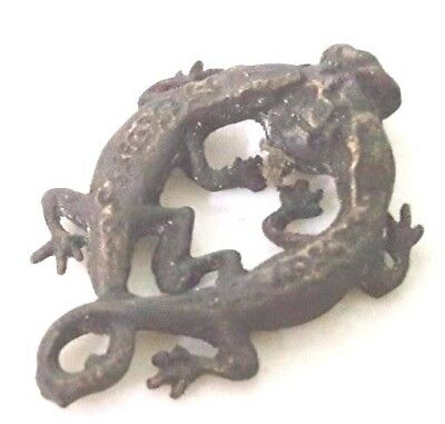 """Thai Gecko Genuine Amulet called """"2 JingJok"""" Attract Love,Charming,Lucky in Love"""