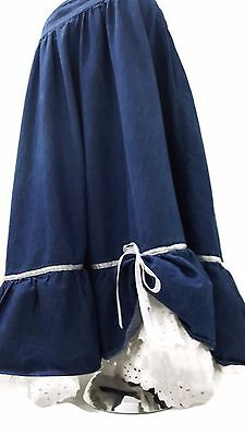 prairie skirt square dance skirt denim cowgirl skirt country and western Small