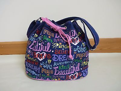 Disney WDW Parks Mickey Graffiti adjustable shoulder bag Dreams Believe wishes