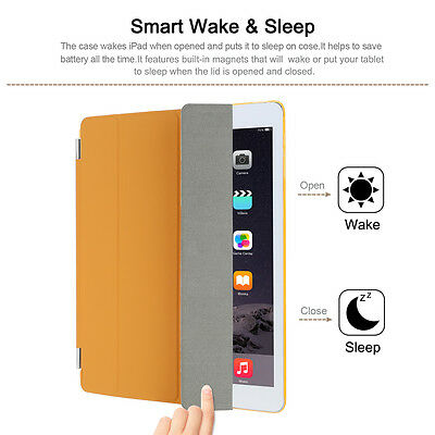 UK Stock New Smart Magnetic Leather Cover Back Case Stand For APPLE iPad 2/3/4