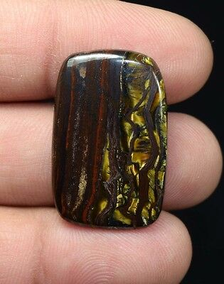 Awesome Iron Tigers Eye  ! 25.45 Cts. 100 %  Natural  Cushion  Cab For  Jewelry