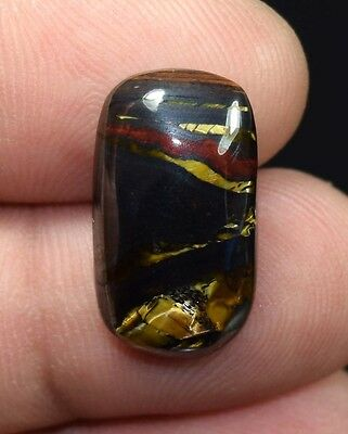 Gorgeous  Iron Tigers Eye  ! 16.00 Cts. 100 % Natural  Cushion Cab For  Jewelry