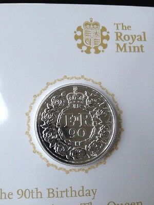 The Royal Mint Queen's 90th Birthday 2016 UK £20 Fine Silver Coin