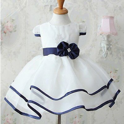 Flower Girls Kids Baby Clothes Princess Party Wedding Tulle Tutu Dresses 5-6T