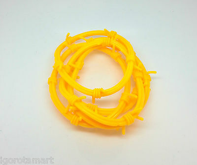 5X  Yellow Barbed Wire Gothic Rock Punk Wristbands Bracelets