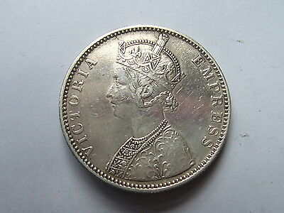 Victoria India Rupee Dated 1890  High Grade .917 Fine Silver