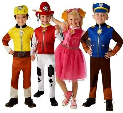 Child PAW PATROL Fancy Dress Costume Cartoon TV Childrens Outfit Book Week Kids