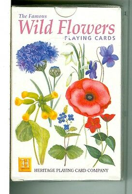 """Wild Flowers"" Playing Cards, Belgium by Heritage/Tioview Ltd. 1996"