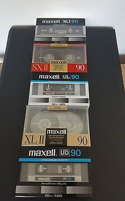 Vintage MAXELL 90 Cassette Tapes (x5)