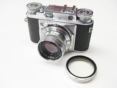 VOIGTLANDER PROMINENT + f2 50mm ULTRON,  LEVER WIND &  SHOE + UV FILTER + CASE