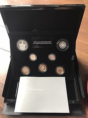 2013 ROYAL MINT SILVER PIEDFORT PROOF COIN SET - With Guinea & Underground