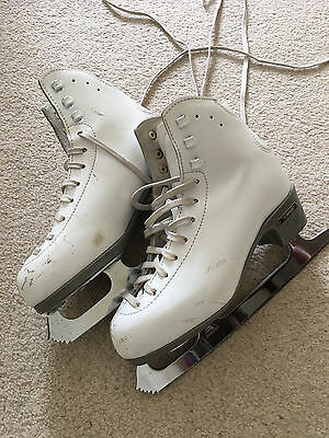 Girls Risport 230 ice skates UK Size 2 white leather