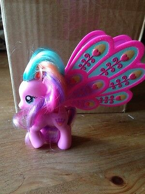 My Little Pony, MLP Fim G4 Ploomette RARE Big Glimmer Wings Brushable