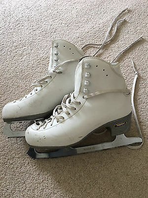 Girl's Ice Skates Risport 250 UK Size 4.5 white leather