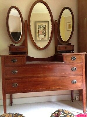 beautiful inlaid dressing table