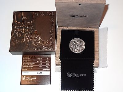 NORSE GODS 2016 ODIN 2 oz SILVER HIGH RELIEF COIN SOLD OUT